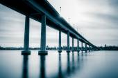 The Naval Academy Bridge, over the Severn River in Annapolis, Ma — Stock Photo