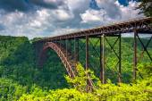 The New River Gorge Bridge, seen from the Canyon Rim Visitor Cen — Stock Photo