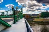The Northampton Street Bridge over the Delaware River in Easton, — Stock fotografie