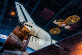 The Space Shuttle Discovery, at the Smithsonian Air and Space Mu — Stock Photo