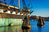 The USS Constellation in the Inner Harbor of Baltimore, Maryland — Stock Photo