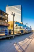The boardwalk and Revel Casino Hotel, in Atlantic City, New Jers — Stock Photo