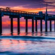 The fishing pier at sunrise, in St. Augustine Beach, Florida. — Stock Photo #52610189