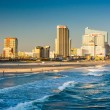 The skyline and Atlantic Ocean in Atlantic City, New Jersey. — Stock Photo #52610705