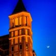 Top of the building and a moon at night in Washington, DC. — Stock Photo #52610993