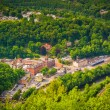 Постер, плакат: View of Jim Thorpe and the Lehigh River from Flagstaff Mountain