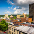 View of buildings from a parking garage in Asheville, North Caro — Stock Photo #52614257