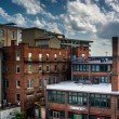 View of old buildings from a parking garage in Asheville, North  — Stock Photo #52614965