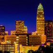 View of the Charlotte skyline at night, North Carolina. — Stock Photo #52615871