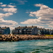 Waterfront condos and a jetty in Point Pleasant Beach, New Jerse — Stock Photo #52617277