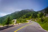 The road to Grandfather Mountain, near Linville, North Carolina. — Stock Photo