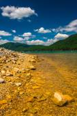 The rocky shore of  Watauga Lake, in Cherokee National Forest, T — Stockfoto