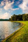 The shore of Lake Pinchot, at Gifford Pinchot State Park, Pennsy — Stockfoto