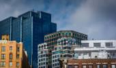 Tops of buildings in Boston, Massachusetts.  — Stockfoto