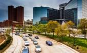 Traffic on Light Street in Baltimore, Maryland.  — Stockfoto