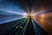 Underground moving walkway at the National Gallery of Art, in Wa — Stock Photo