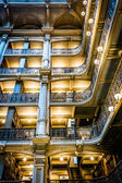 Upper levels of the Peabody Library in Mount Vernon, Baltimore,  — Stock Photo