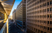 View of 11th Street in downtown Wilmington, Delaware, from the C — Stock Photo