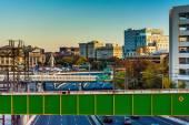 вид i-83 и зданий от моста в балтиморе, штат мэриленд. — Стоковое фото