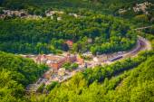 View of Jim Thorpe and the Lehigh River from Flagstaff Mountain, — Stock Photo