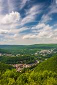 View of Jim Thorpe from Flagstaff Mountain, Pennsylvania.  — Stock Photo