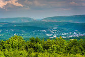 View of Lehigh Gap from Flagstaff Mountain, Pennsylvania.  — Stock Photo