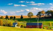 View of a farm in rural York County, Pennsylvania.  — Stock Photo