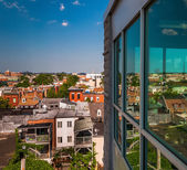 View of a run-down residential area from a parking garage in Bal — Stock Photo