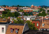 View of a run-down residential area of Baltimore, Maryland.  — Stock Photo