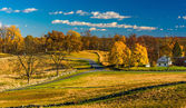 View of battlefields and autumn color in Gettysburg, Pennsylvani — Stock Photo