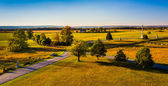 View of battlefields from the Pennsylvania Monument in Gettysbur — Stock Photo