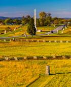 View of battlefields and monuments from the Pennsylvania Monumen — Stock Photo