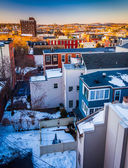 View of buildings from a parking garage in York, Pennsylvania.  — Stock Photo