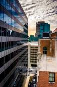 View of buildings from a parking garage in downtown Baltimore, M — Stock Photo