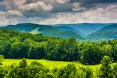 View of mountains in the Potomac Highlands of West Virginia. — Stock Photo