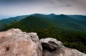 Vista das montanhas appalachian de botão de duncan, george washi — Foto Stock