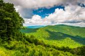 View of the Appalachian Mountains from Skyline Drive in Shenando — Foto Stock