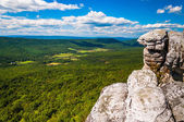 View of the Appalachian Mountains from cliffs on Big Schloss, in — Foto Stock