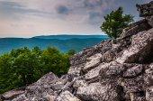 Weergave van de Appalachen vanaf de boulder bedekte hellingen van dunc — Zdjęcie stockowe