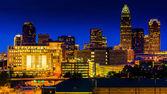View of the Charlotte skyline at night, North Carolina. — Stock Photo