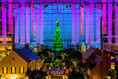 View of the Christmas tree and lobby of the Gaylord National Res — Zdjęcie stockowe