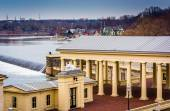 View of the Fairmount Water Works and the Schuylkill River in Ph — Stock Photo