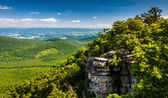 View of the Shenandoah Valley and cliffs seen from Big Schloss i — Stock Photo