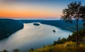 View of the Susquehanna River at sunset, from the Pinnacle in So — Stock Photo