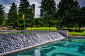 Waterfall and pool at Centennial Olympic Park in downtown Atlant — Stock Photo