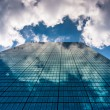 Постер, плакат: Clouds reflecting in the John Hancock Building in Boston Massac