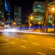 Traffic on Atlantic Avenue at night, near Rowes Wharf in Boston, — Stock Photo #53055869