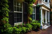 Beautiful houses in Beacon Hill, Boston, Massachusetts.  — Stock Photo