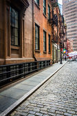Stone Street, in the Financial District of Manhattan, New York. — Stock Photo