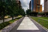 The Hudson River Greenway, in Lower Manhattan, New York.  — Stock Photo